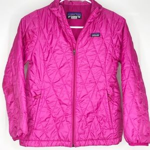 Patagonia Girls Pink Nano Puffer Jacket Coat